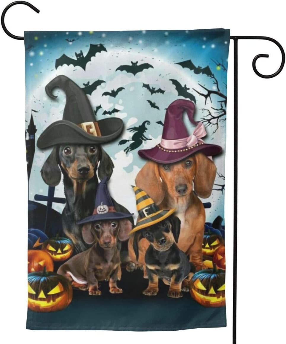 Dachshund Halloween Decorations.Amazon Com Label Love Dachshund Dog Black Halloween Art Big Iarge Jumbo For Party Themed Welcome Outdoor Outside Decorations Ornament Picks Garden Yard Decor Double Sided 28 X 40 Flag Garden Outdoor