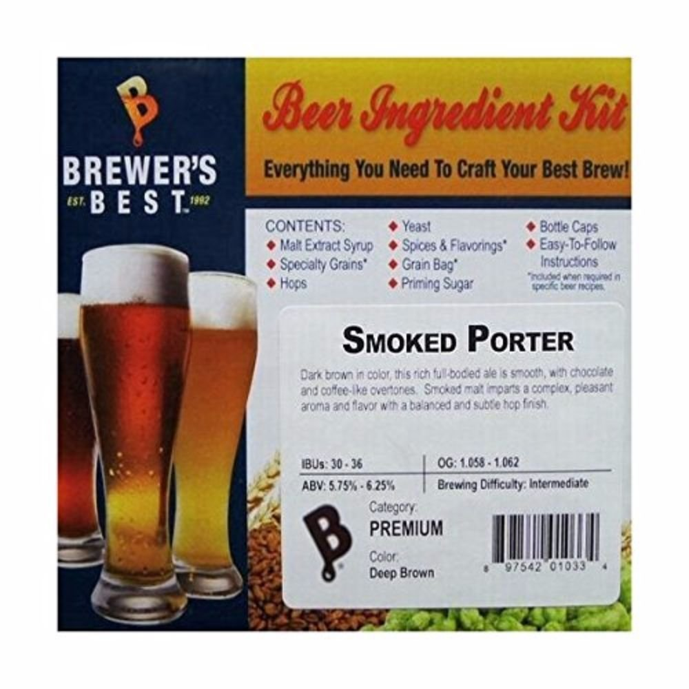 Brewer's Best Smoked Porter Homebrew Beer Ingredient Kit