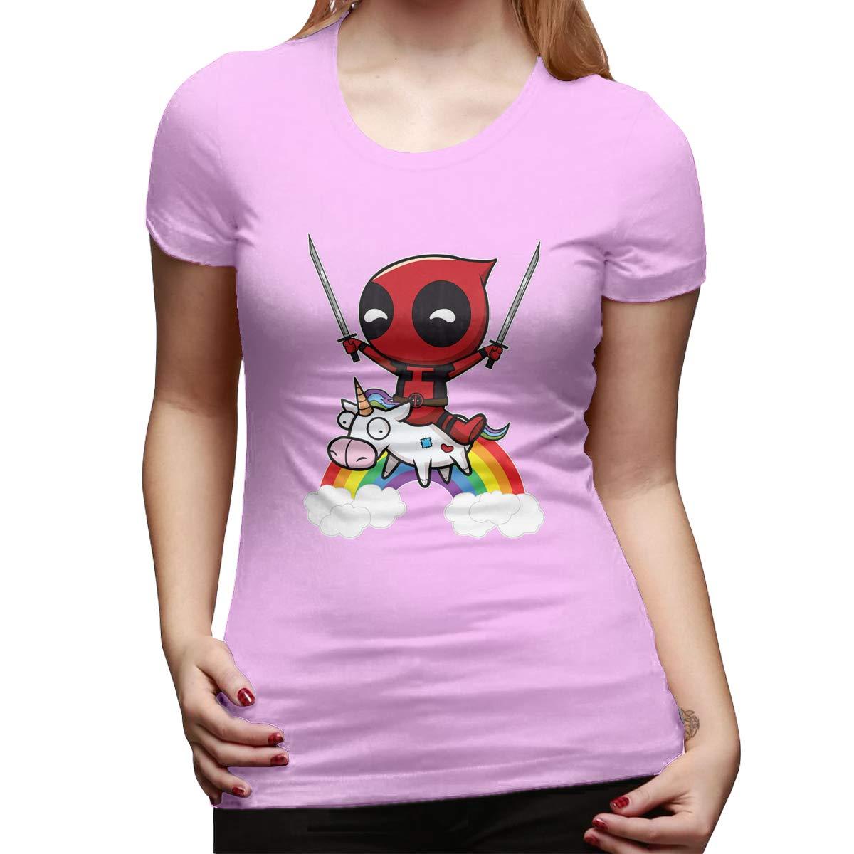 Cghtaym Riding A Unicorn Funny Humor Pattern Short Sleeve T Shirt Girls Tee Top 4112