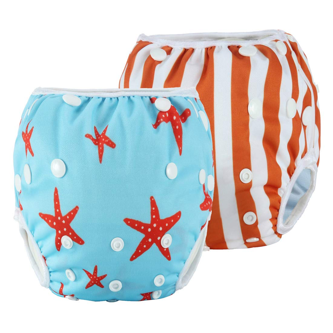 b1f8b55cd6 Amazon.com : Anmababy 2 Pack Reusable Swim Diaper, Adjustable and Washable  Ultra-Premium Quality Baby Swim Diapers for Baby Shower Gifts & Infant  Swimming ...