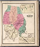 "Map Poster - Town of Darien, Fairfield County, Connecticut. (inset) Darien. Darien Depot. - 24""x20.5"""