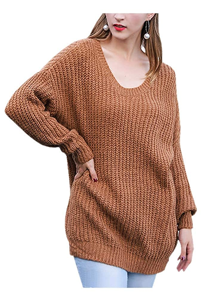 ARJOSA Womens Cable Knit Oversized Crewneck Casual Pullovers Sweaters Tops