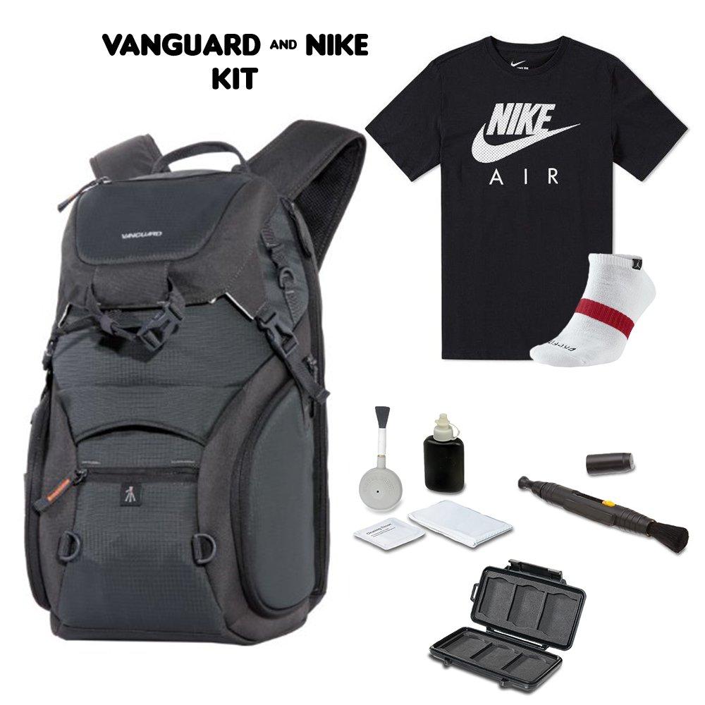 Vanguard ADAPTOR 46 - Mochila con camiseta deportiva Nike + calcetines deportivos Nike + kit de limpieza 4 piezas + cepillo de limpieza para bolígrafo + ...