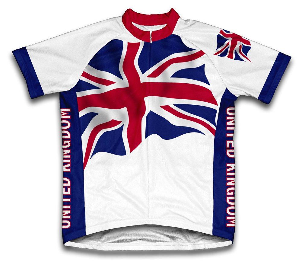 Royaume-Uni Drapeau à manches courtes Maillot de cyclisme pour femme Large Blanc - blanc   B00EDKPX82