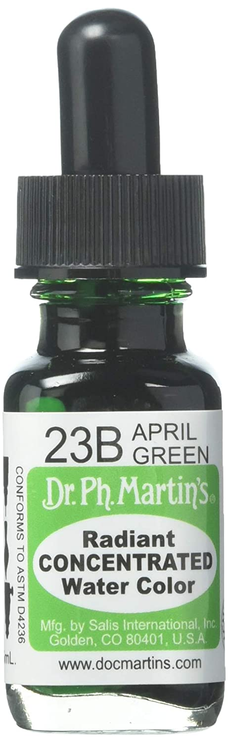 Dr. Ph. Martin's Radiant Concentrated Water Color, 0.5 oz, April Green (23B)   B003MQAS3S