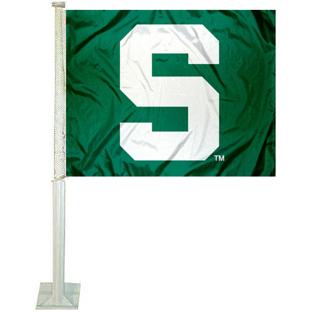 Michigan State Spartans Green Car Flag College Flags /& Banners Co