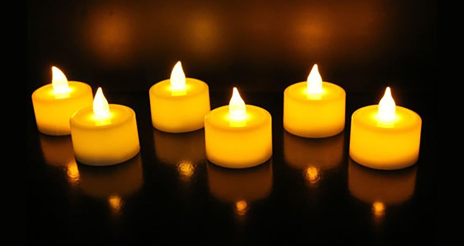 Buy Satyam Kraft Led Tea Light Candle Diya For Diwali Decoration Home Decor Gift Yellow Box Of 12 Online At Low Prices In India