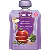 HEINZ Junior - Apple, Broccoli, Pea & Brown Rice Pouch, 6 Pack, 128ML Each
