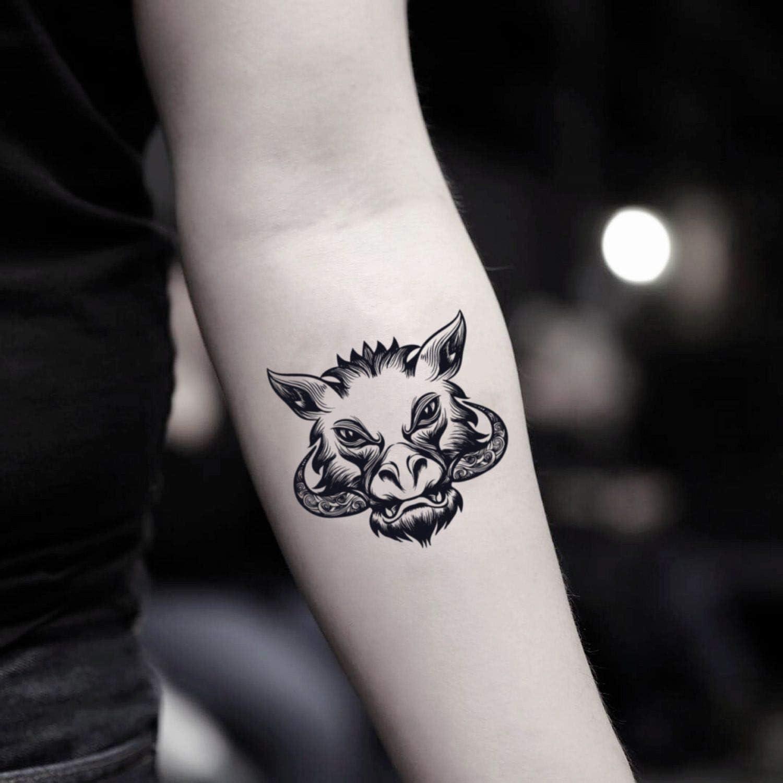 Tatuaje Temporal de Jabalí (2 Piezas) - www.ohmytat.com: Amazon.es ...