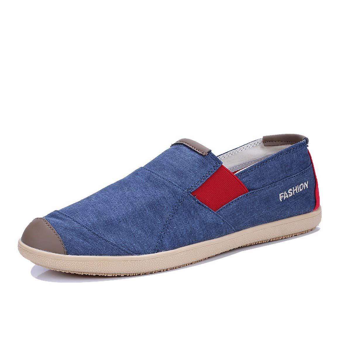 KMJBS Scarpe di tela Uomo autunno classico retro piedi pigro scarpe.Caffè Trentanove