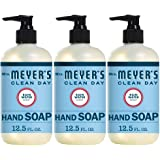 Mrs. Meyer's Clean Day Liquid Hand Soap, Cruelty Free and Biodegradable Hand Wash Made with Essential Oils, Rain Water Scent,