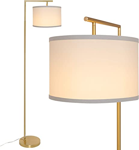 Yueximei LED Gold Floor Lamp,Mid Century Modern Floor Lamp Standing Light