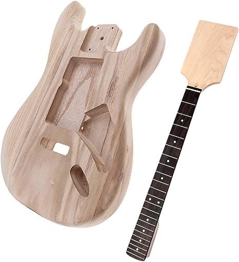 B Baosity Nuevo Madera Inacabada Guitarra Eléctrica Cuerpo + ...