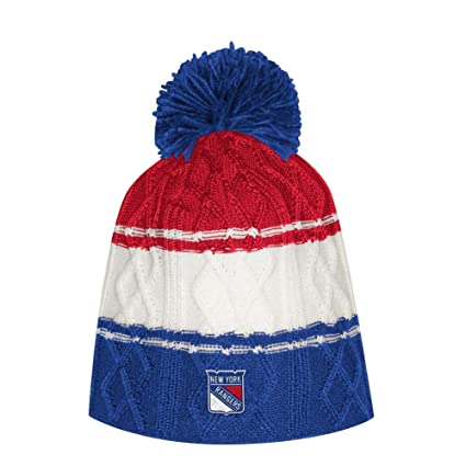 d75c4dfa286806 Image Unavailable. Image not available for. Color: adidas Women's New York  Rangers NY Beanie Cable Knit Cap with Pom