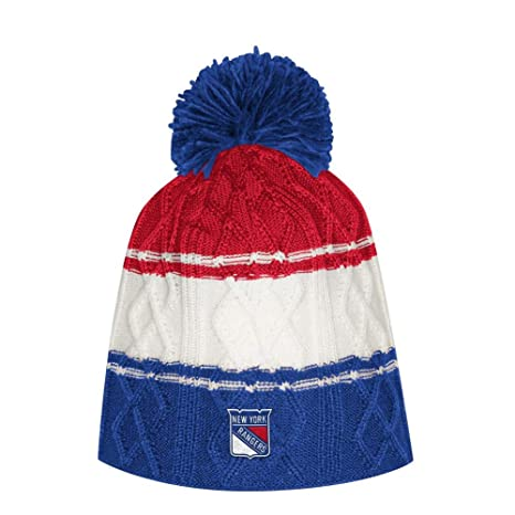 Amazon.com   adidas Women s New York Rangers NY Beanie Cable Knit ... d2475f0615e