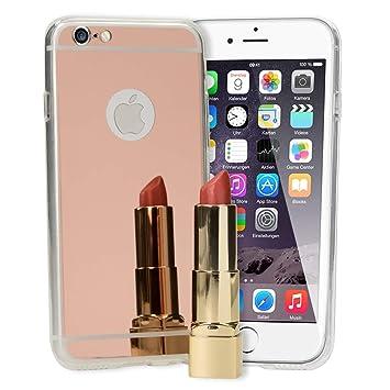 NALIA Funda Espejo Compatible con iPhone 6 6S, Protectora Movil Carcasa Silicona Ultra-Fina Gel Bumper Mirror Case, Goma Cubierta Telefono Cobertura ...