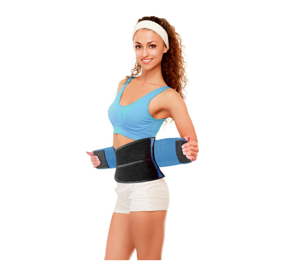 PU Health Mma Fighter Waist Support Adjustable Compression Belt by German Physicians, Black