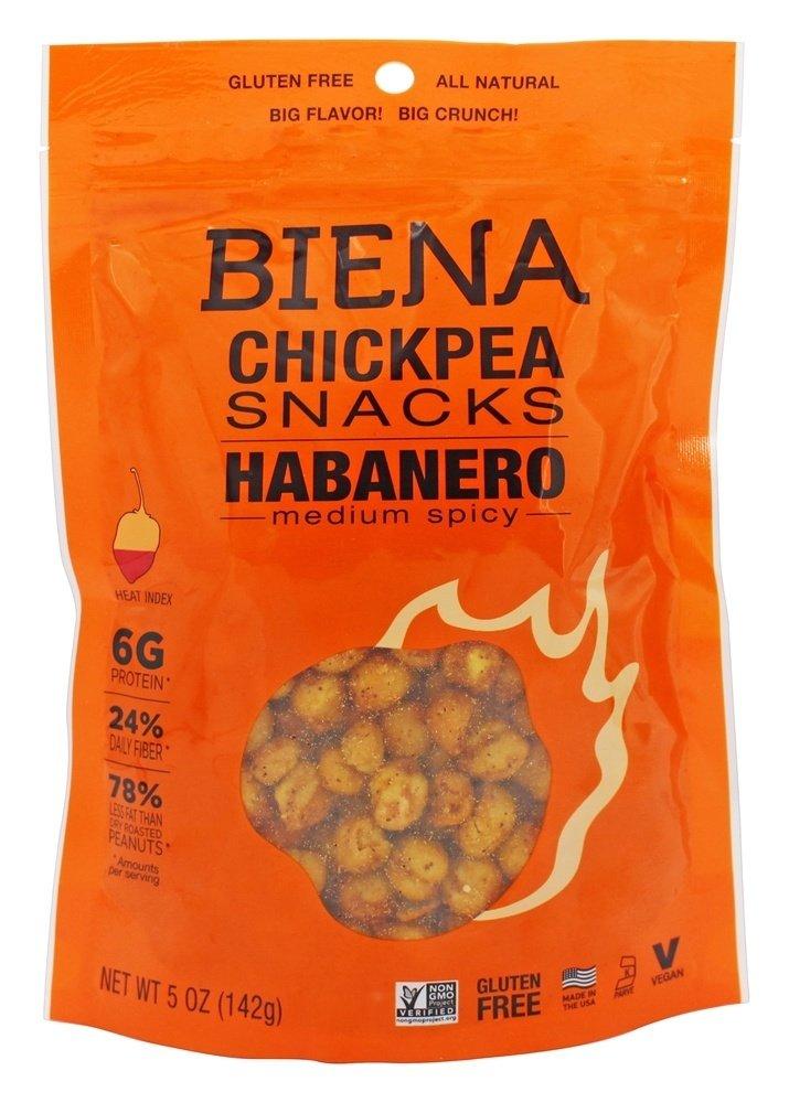Biena Habanero Chickpea Snacks, 5 Ounce -- 8 per case.