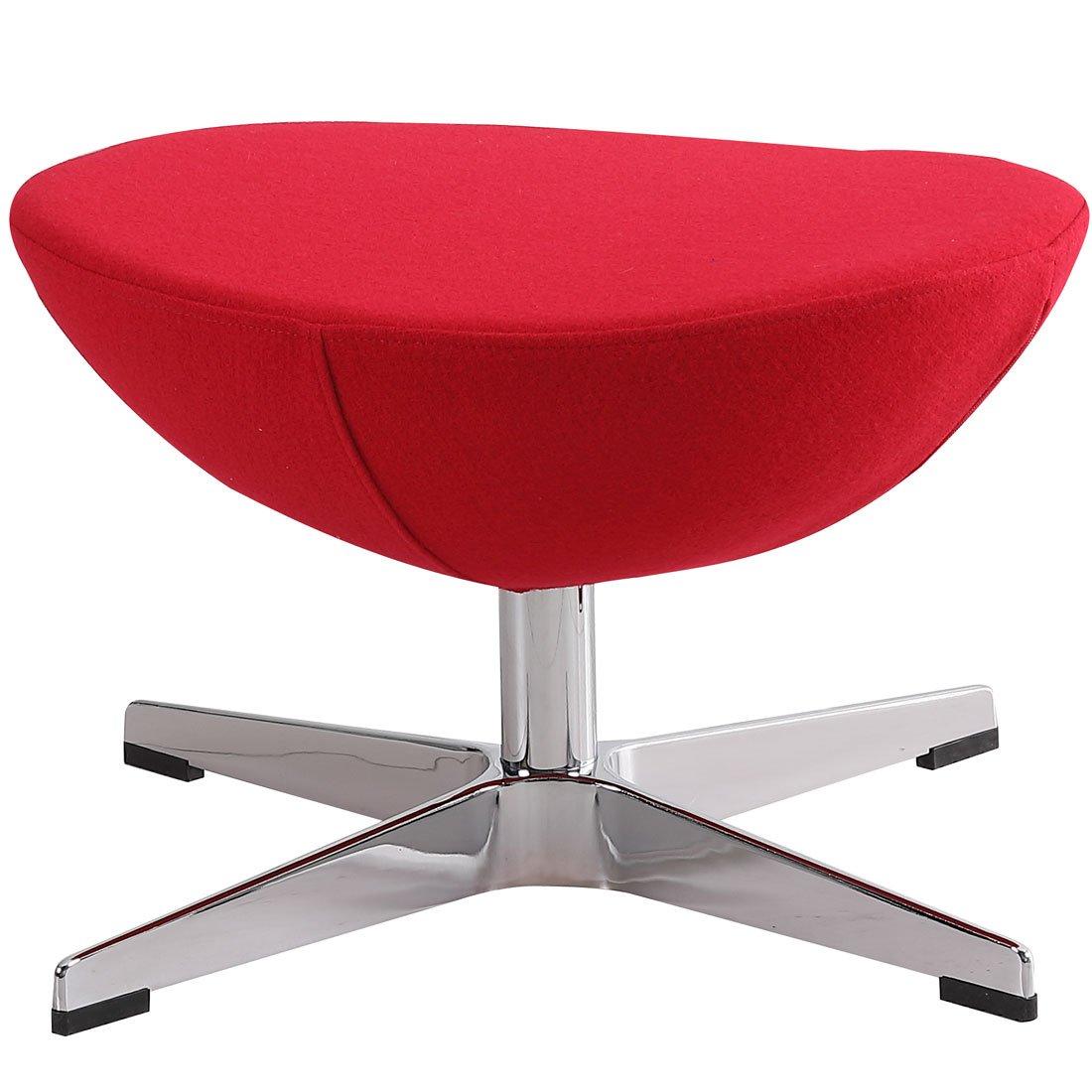 タンスのゲン エッグチェア スツール Arne Jacobsen リプロダクト デザイナーズチェア オットマン レッド 48300006 00 B079GQ2C42 エッグチェア(スツール)|レッド レッド エッグチェア(スツール)