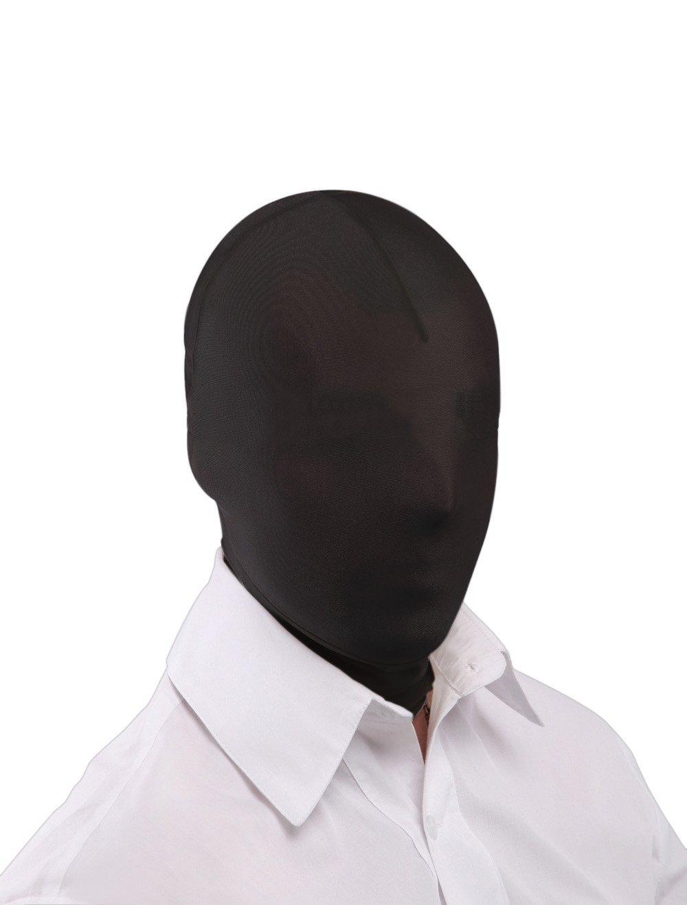 Queenshiny® zentai capilla completo cabeza de la cara Negro