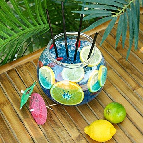 Bar@Drinkstuff - Pecera cóctel plástico 100oz / 2.9ltr / 18,5 cm - single | pecera de fiesta | diámetro: 185mm | non-decorativa pecera claro (accesorios no ...