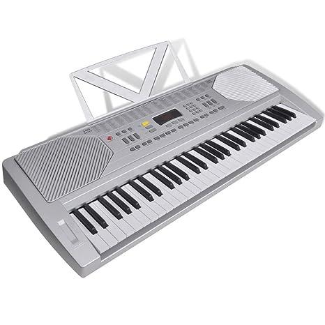 FZYHFA Teclado Electrónico Con Atril Partituras,Teclados Musicales Profesionales,Fácil de Montaje - 61