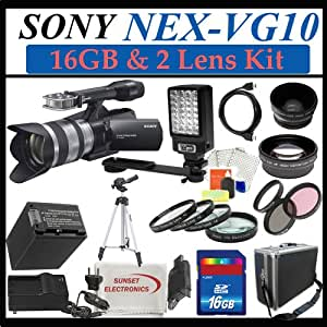 Sony Handycam NEX-VG10 1080 HD Video Camera Camcorder with 18-200mm OSS Lens + Extreme Complete Handycam Accessory Package