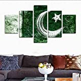H.COZY5 Piece HD printed Moon star painting on canvas printing decoration room canvas prints image (No Frame) Unframed far293 50 inch x30 inch