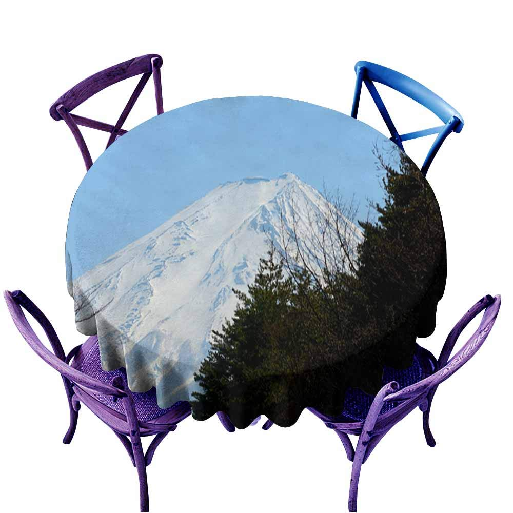 color05 70\ AndyTours Spill-Proof Table Cover,Mt Fuji Japan3,High-end Durable Creative Home,70 INCH