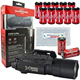 Surefire X300U-A Ultra High Output 600 Lumens LED Weapon Light with 12 Extra Surefire CR123A and 3 Alliance Gadget Battery Case