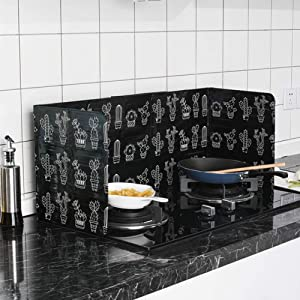Anti Splatter Shield Guard,Splatter Screen Wall Oil Baffle Aluminum Foil Guard Folding Splashproof Tools Kitchen Cooking Gas Cooktop Plate Stove Gadgets Home
