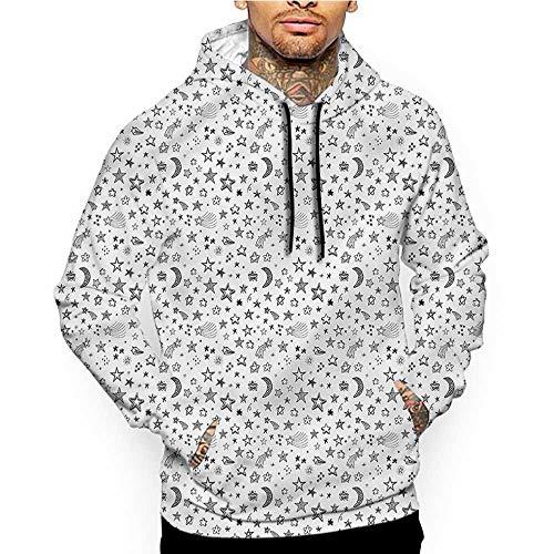 Unisex 3D Novelty Hoodies Doodle,Flying Heart Waving Love,Sweatshirts for Women Plus Size