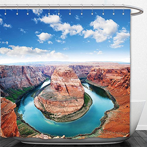Interestlee Shower Curtain Room Decorations Collection Horse Shoe Bend North Rim Grand Canyon Page Arizona USA Famous Tourist Attractions Sandy - Or Bend Macy's