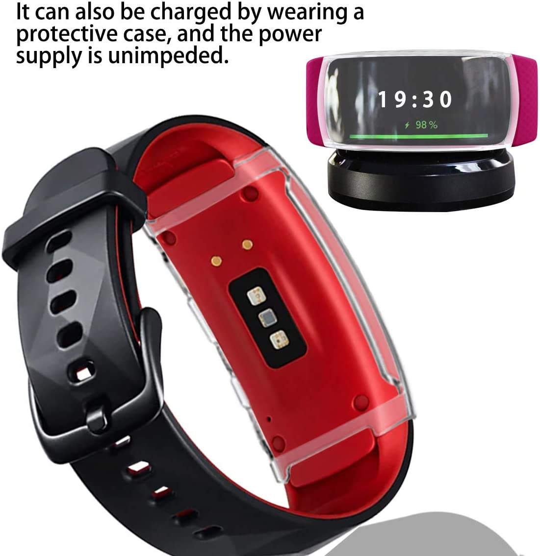Soft TPU All Around Full Protective Protector Case for Samsung Gear Fit2 Pro Smartwatch Accessories Haojavo Screen Protector for Samsung Gear Fit2 Pro Smartwatch
