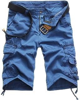 Logobeing Pantalones Cortos Deporte para Hombre - Bermudas Cargo Shorts Pantalón con Bolsillos Moda Leisure Casual 31-38 9H1Pi8