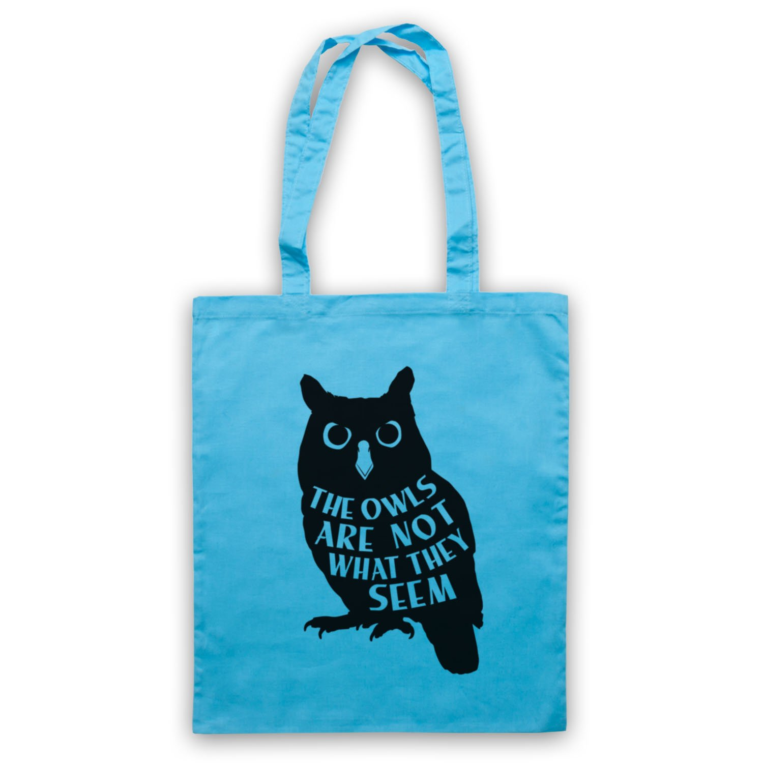 Inspired by Twin Peaks The Owls Are Not What They Seem Unofficial Tote Bag,  Black: Amazon.co.uk: Shoes & Bags
