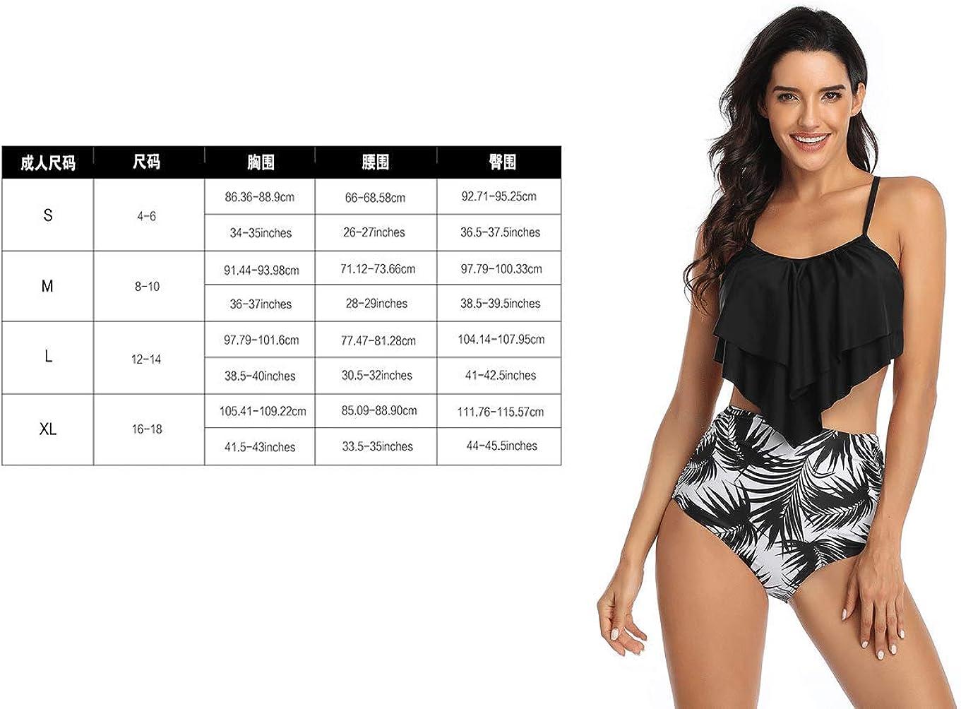 Conjunto de Bikini de Ba/ño Ni/ñas Traje de Ba/ño para Ni/ña Ba/ñador Cuello Halter de Dos Piezas Madre e Hija Bikinis Traje de ba/ño Mam/á beb/é Ba/ñadores de Mujer de Verano Playa