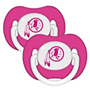 Baby Fanatic Pacifier (2 - Pack) - Washington Redskins Pink