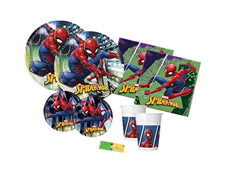 Tavolo Compleanno Uomo : Decorata party kit n coordinato tavola compleanno spiderman