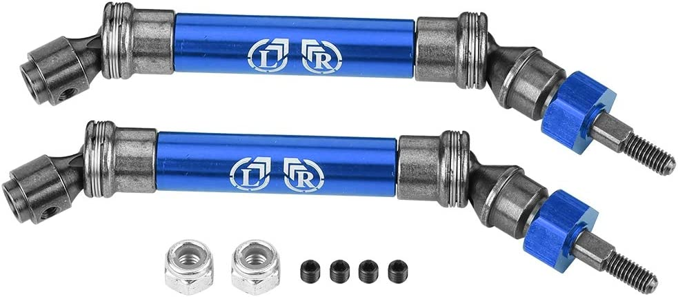 Dark Blue 1:10 Scale Remote Control Car Front Drive Shaft CVD Transmission Axle Spare Parts for Traxxas Slash 1//10 NSV775 RC Car T best RC Drive Shaft