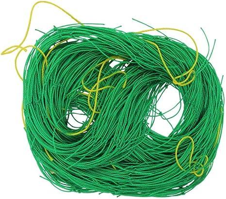 DIYARTS 1.8x2.7m Malla de Guisantes y Frijoles Malla de Enrejado de Nylon Verde Soporte de Malla Redes de Plantas de Frijol Línea Engrosada Cerca de ...