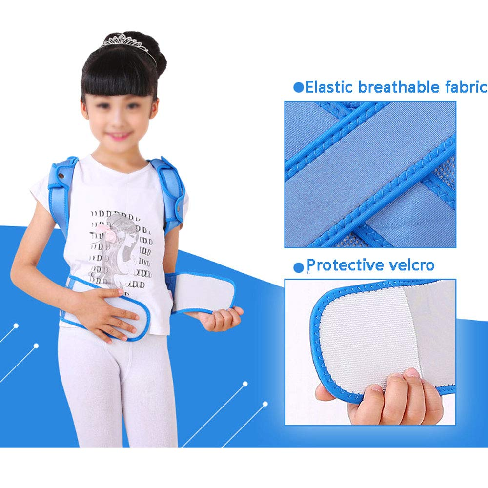 WBBJZBD Anti-Humpback Correction Belt, Child Student Spine Correction to Correct Hunchback Sitting Back Straight Back Anti-Humpback Correction Belt (Size : S (Waistline:54-64cm)) by WBBJZBD (Image #4)
