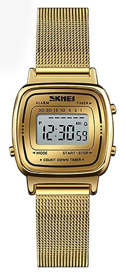 Womens Quartz Watches Ultra-Thin Gorgeous Simple Petite Wrist Watches Small Dial Mesh Steel Bracelet