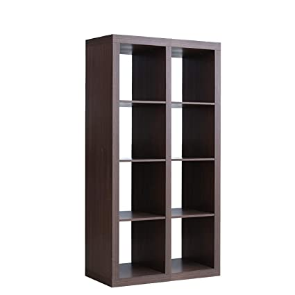 Soges 8 Cube Storage Organizer, Large Bookshelf TV Console, Wooden Storage  Cube,