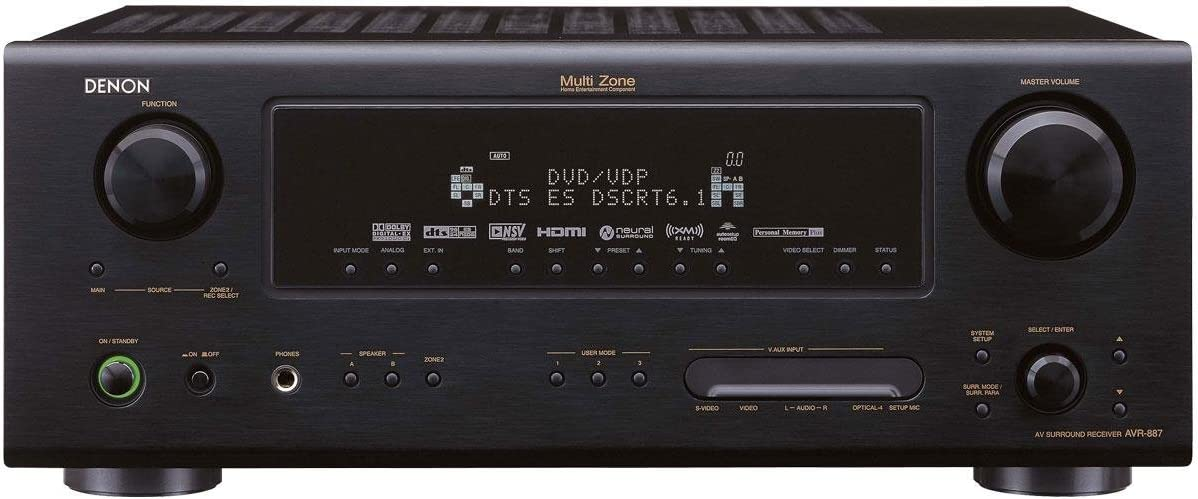 Denon AVR-887 7.1-Channel Home Theater Receiver (Discontinued by Manufacturer)