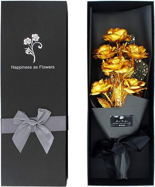 Luxury 24K Gold Plated Rose Flower Valentine/'s day Birthday Gifts
