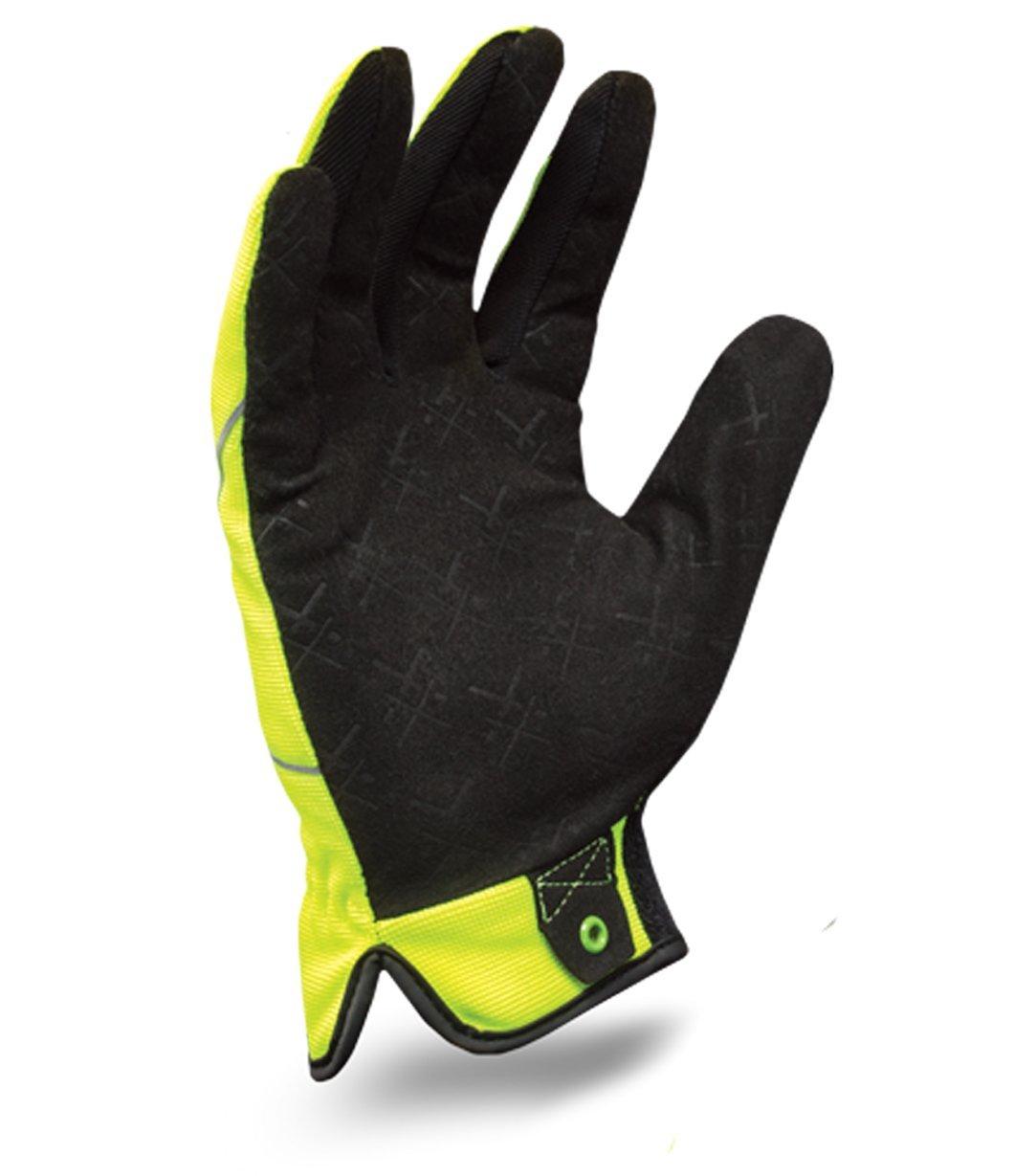 2 Pack Ironclad YS-EXOB-HS2-04-L Hi-Viz Utility Safety Gloves,1 Pair Orange and 1 Pair Yellow Large