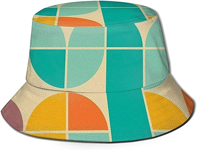 Bucket Hat Packable Reversible Colorido Figura geométrica Imprimir ...