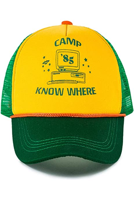 Stranger Things Dustin Cosplay Hats Camp Know Where Mesh Adjustable Baseball Cap