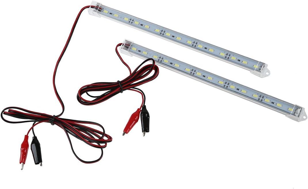 LED Luz - SODIAL(R)2pc 12V Car 15 LED 5630 SMD Luz de tira Interior Lampara Bar Camioneta Caravana Pecera